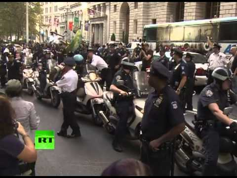 Protests, arrests mark first anniversary of OWS in NYC