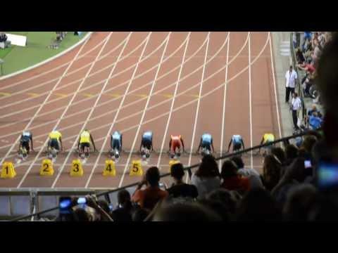 100m Men - Diamond League Brussels 2013