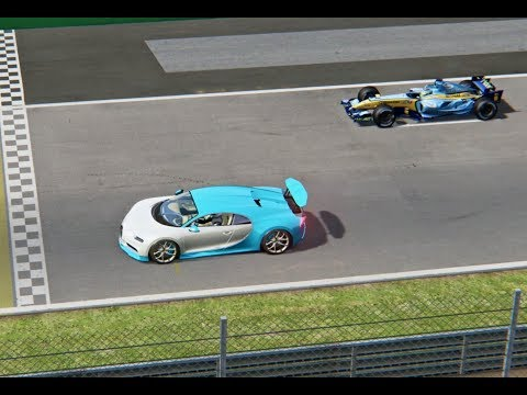 Bugatti Chiron vs Renault F1 2005 - Monza