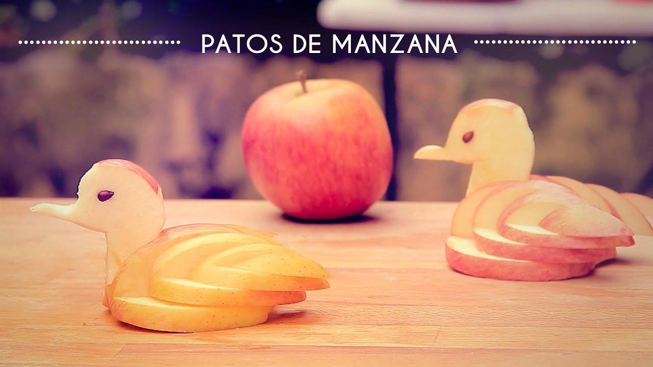 CÓMO HACER UN PATO DE MANZANA PARA DECORAR - Cocina con Olaya y ...