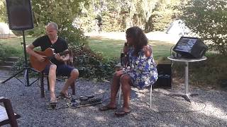 soundcheck with Izaline Calister and Ed Verhoeff on camping les Murets in Belgium, August 18, 2018