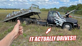 Download Saving Our ABANDONED Freedom Factory Tow Truck!!! First Attempt at Driving It! Mp3 and Videos