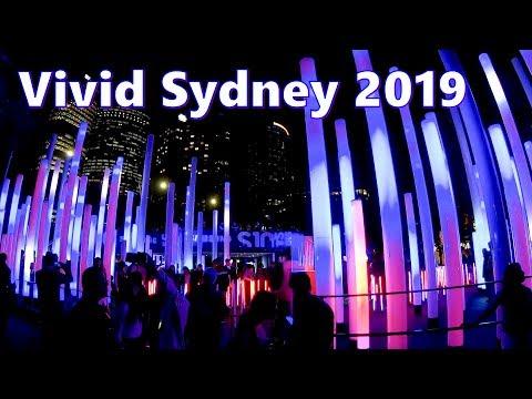 VIVID SYDNEY 2019 - Circular Quay To Sydney Harbour Bridge | Sydney Australia