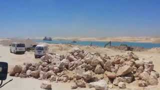 dredging the Suez Canal in the southern sector