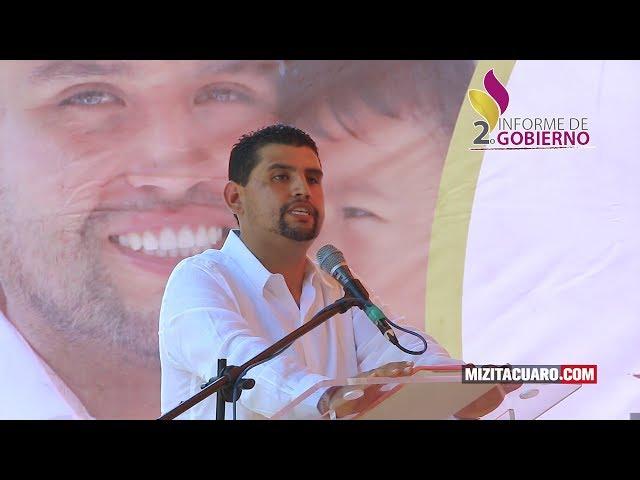Octavio Ocampo Córdova Rinde su segundo informe en Tuzantla