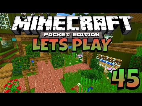 Let 39 s play minecraft pe flower garden youtube for Garden designs minecraft