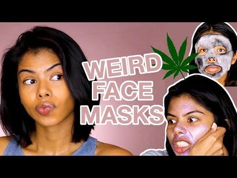 Weird Face Masks From Walmart (Hemp, Charcoal, Gold Masks & . . .