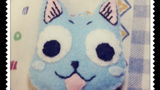 Fairy tail: How to make Happy head Plushie Tutorial
