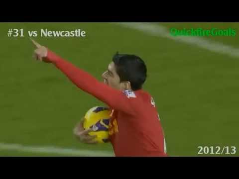 Luis Suarez vs Newcastle 2012/2013 (With commentary)