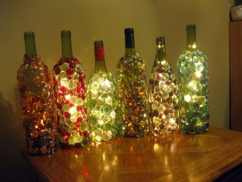 decorated wine bottles christmas decor
