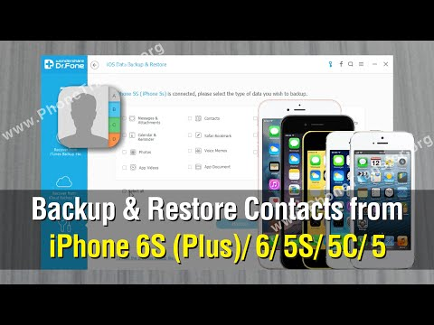 How To Backup Restore Contacts From Iphone Plus 6s 5s 5c