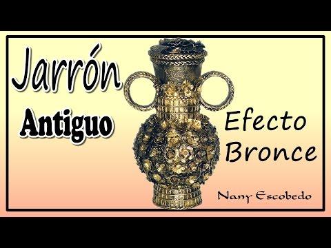 JARRÓN ANTIGUO EFECTO BRONCE