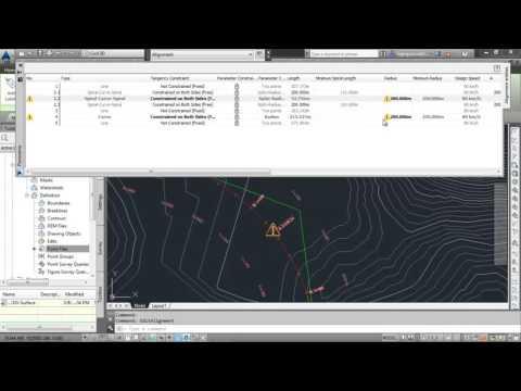 V3Tech_Áp tốc độ thiết kế và tiêu chuẩn thiết kế cho tuyến đường trong Autocad Civil 3D
