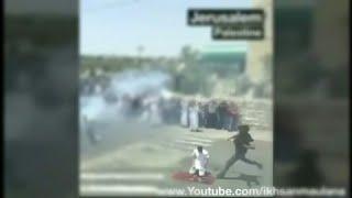 Detik2 saat warga palestina beribadah di tendang oleh tentara israel