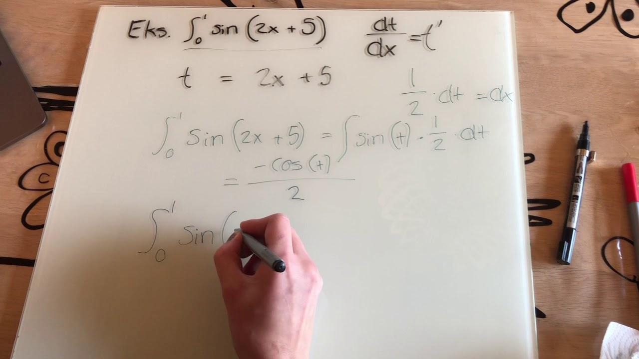 Bestemte integral ved substitution