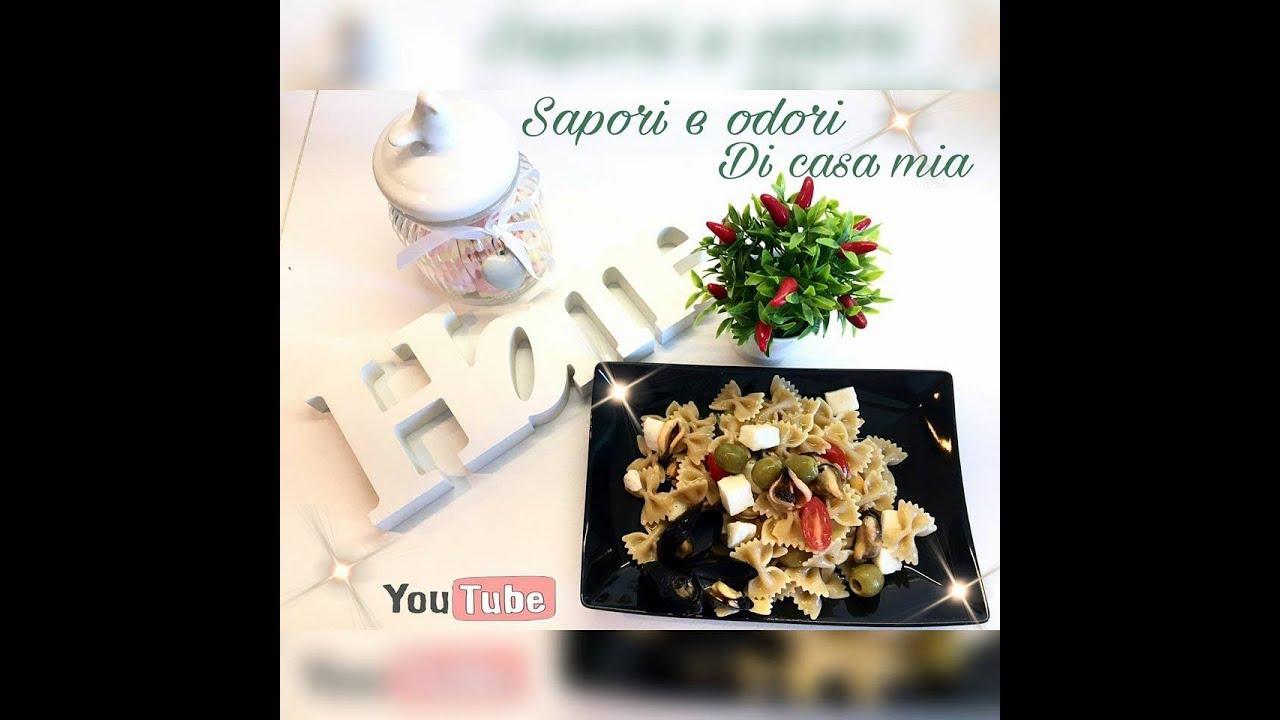 Insalata fredda di pasta con le cozze|Cold pasta salad with mussels