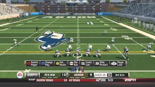 Akron Zips NCAA Football 14 Dynasty - Week 1 vs. FCS Midwest - Season Two