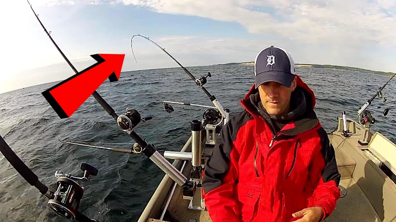 Salmon Fishing Setup Of King Salmon Trolling Youtube