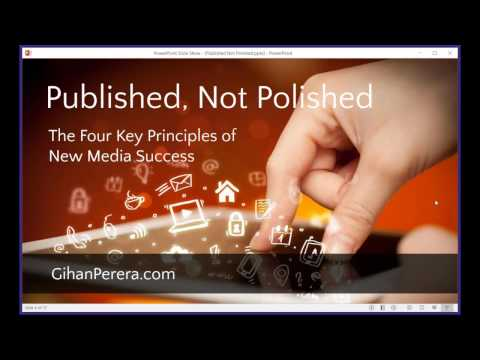 Published, Not Polished - The Four Key Principles of New Media Success