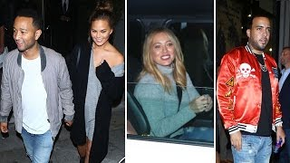 John Legend, Chrissy Teigen, Hilary Duff, And French Montana Dine At Celeb Hotspot Catch
