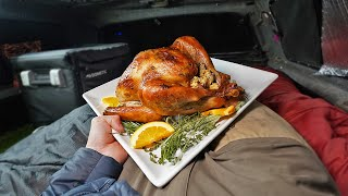 Cooking Thanksgiving Dinner out of my Truck (Camping Meal)