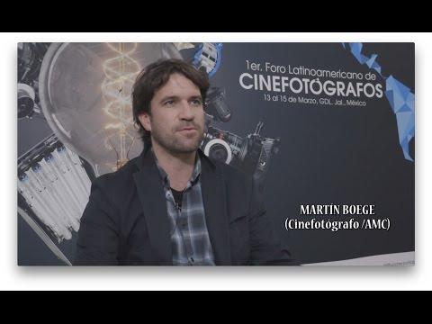 FICG32: Martín Boege desde el Primer Foro Latinoamericano de Cinefotógrafos