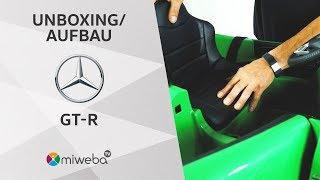 Unboxing - Kinder Elektroauto Auto Mercedes GT-R - Deutsch