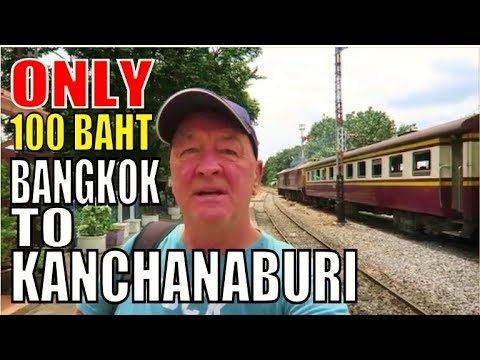 BANGKOK TRAIN TO KANCHANABURI THAILAND THONBURI STATION