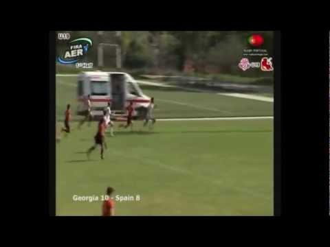 Giorgi Pruidze 60 metre individual try vs Spain U19