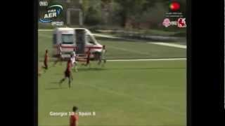 Giorgi Pruidze 60 Metre Individual Try Vs Spain U19