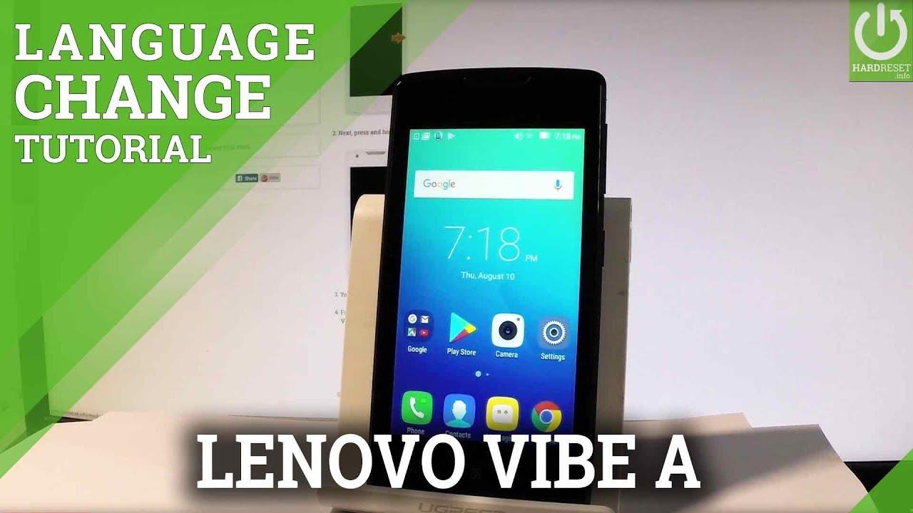 Change Language LENOVO Vibe A - Set Up Android Language