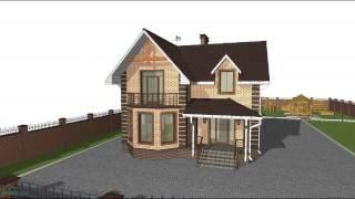 Проект дома с мансардой и тремя спальнями C-082-ТП