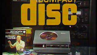 Philips CD player eaŗly advertisement