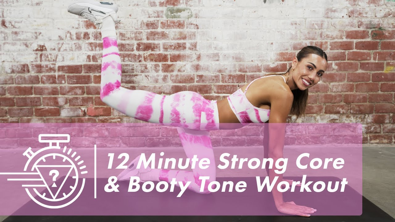 12 Minute Strong Core & Booty Tone Workout with Sami Clarke | #GUESSActive