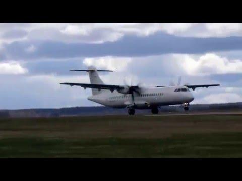 Finnair ATR 72-500 takeoff from Tartu airport