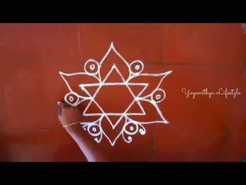 Simple and free hand Kolams for Beginners | Daily Rangoli | Easy Muggulu | Yoganithya Lifestyle