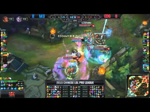 M3 (Ruo Soraka) VS EDG (Pawn Lulu) Game 1 Highlights {EPIC} - 2015 LPL Summer W11D2