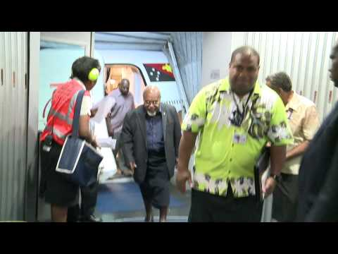 PNG Grand Chief Sir Michael Somare Arrives in Fiji