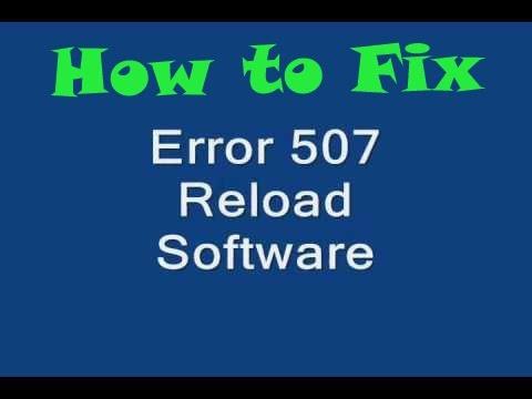 How fix error 507 on blackberry bold 9900