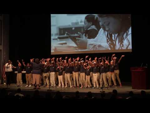 Cleveland Academy Choir Performs at State of the District
