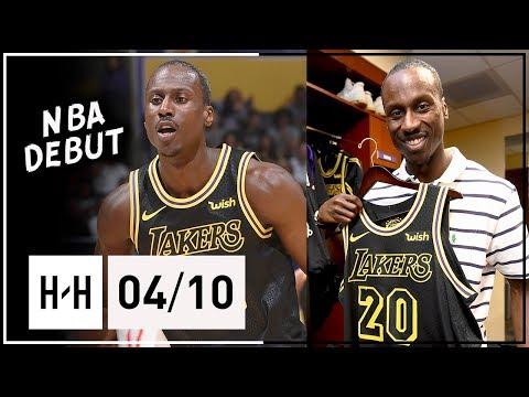 32 Yr-Old Andre Ingram Full NBA DEBUT Highlights vs Rockets (2018.04.10) - 19 Pts, MVP Chants!