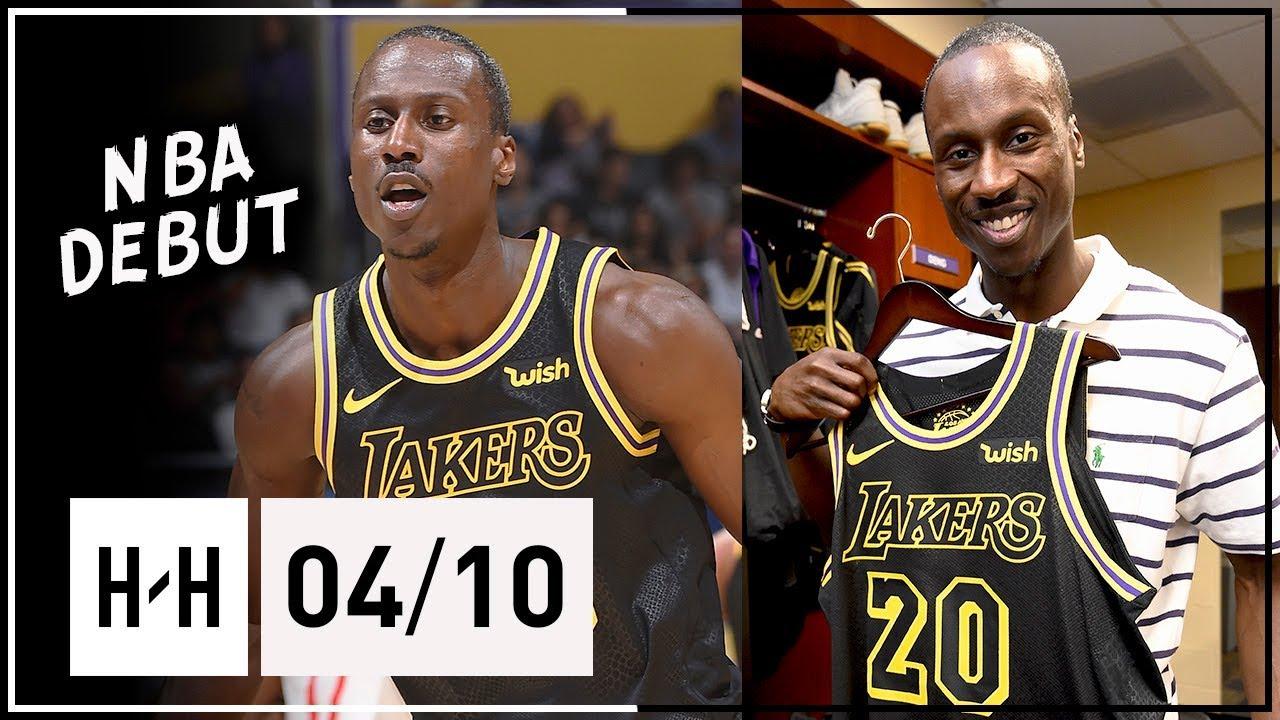 d8623552b 32 Yr-Old Andre Ingram Full NBA DEBUT Highlights vs Rockets (2018.04.10) - 19  Pts