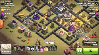 Clash of Clans | Town Hall 9 | Attack Style - Stoned GOHO ( Golem, Hog rider)