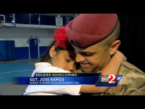Soldier surprises daughter at Sanford school