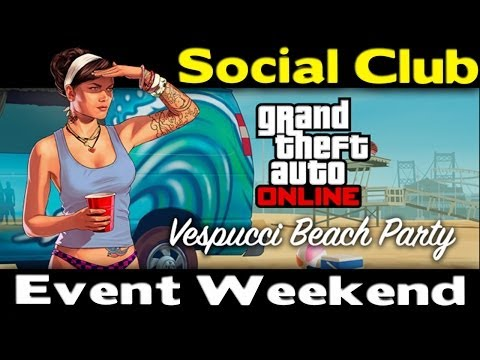 GTA Online - Social Club Event Weekend (Giveaways, Double RP, Exclusives & More) [GTA V]