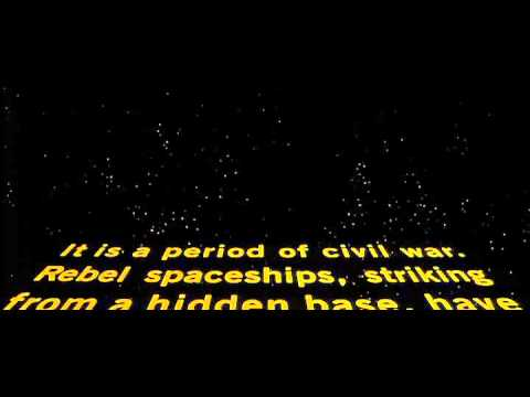 Star Wars original title crawl.