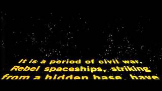 Star Wars (1977) original opening crawl