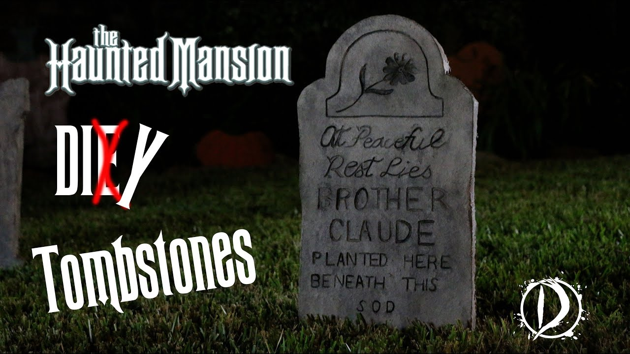 how to make realistic fake tombstones | diy halloween - youtube