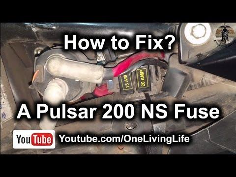 how to fix a bajaj pulsar 200 ns fuse motorcycle starting problem rh youtube com nissan pulsar fuse box location pulsar gtir fuse box translation