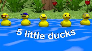 5 Little Duck-Nursery Rhyme-Kids Song-Baby Song-Roly Poly Rhymes